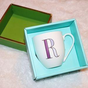 """Kate Spade letter """"R"""" mug- purple"""